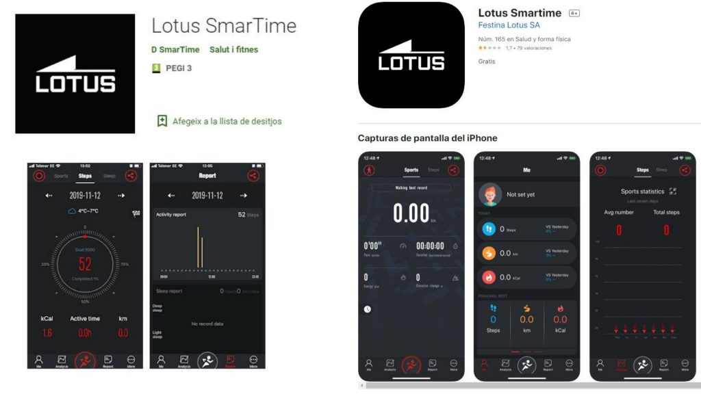 LOTUS Smartime Android y Apple